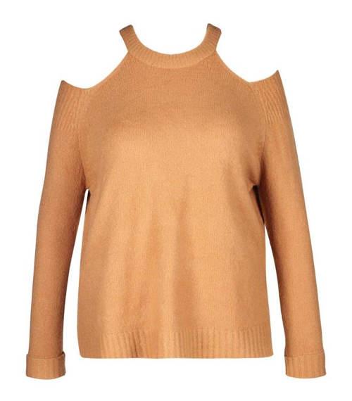 Pletený svetr pro plnoštíhlé
