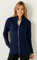 Vlněný dámský svetr na zip