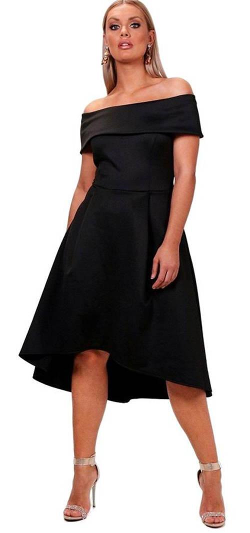 Bardotové midi šaty Elizabeth