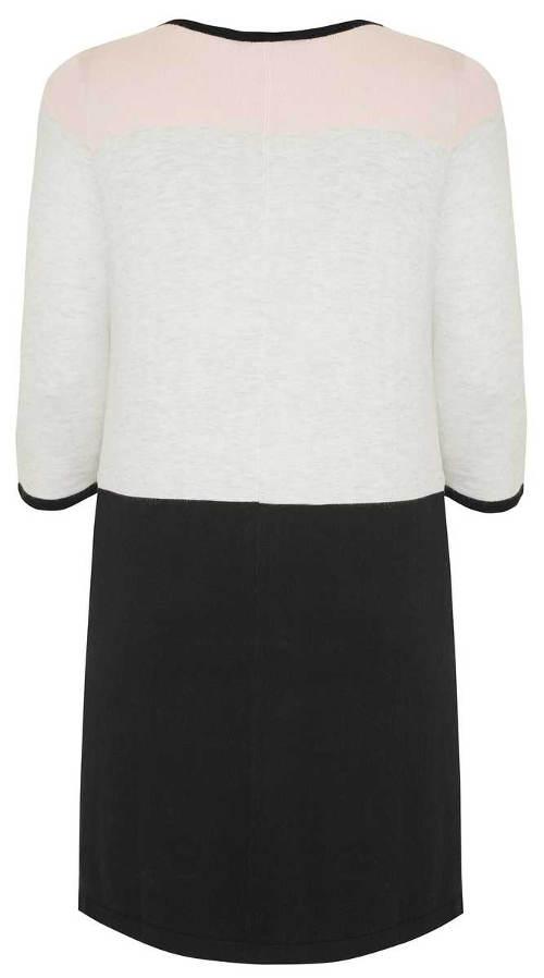 Černobílé šaty pro plnoštíhlé