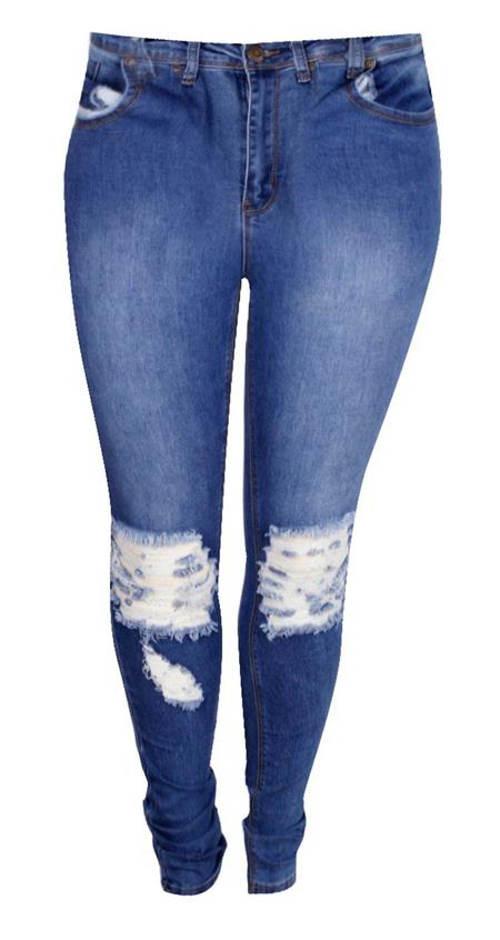 Dámské džíny nadměrných velikostí