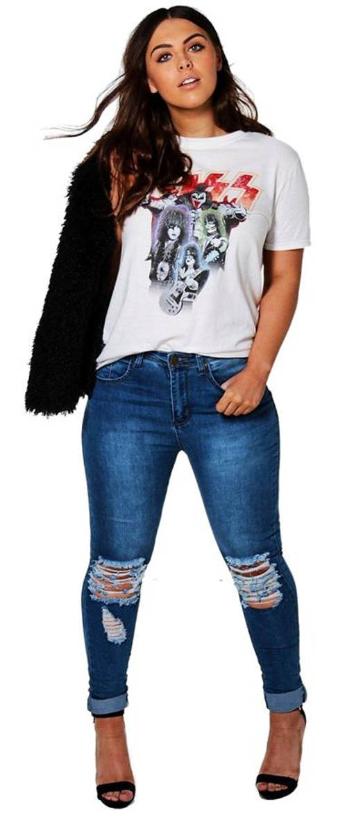 Dámské skinny džíny s průstřihy