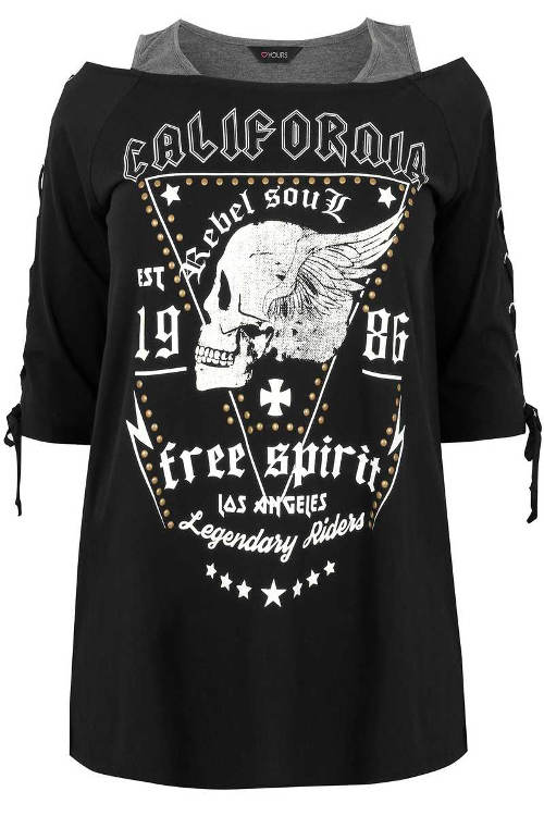 Dámské tričko 2v1