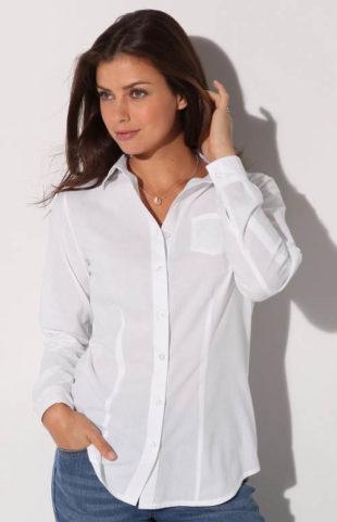 Jednobarevná dámská košile nadměrných velikostí