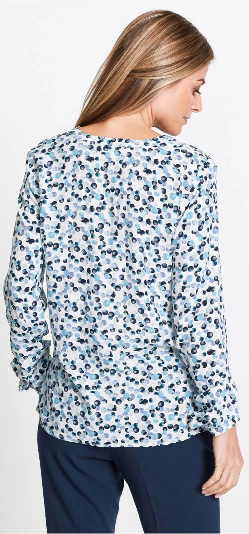 Modro-bílá dámská košile