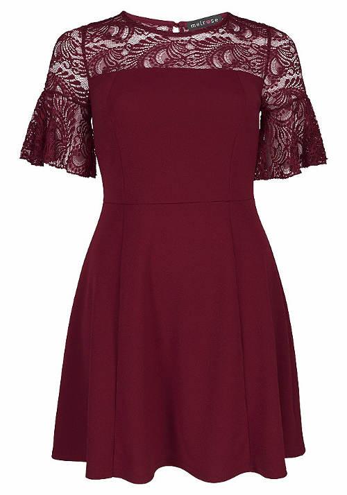 Plesové šaty vínové barvy