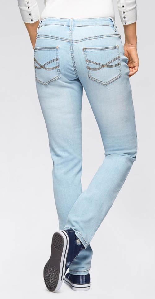 Světle modré dámské džíny