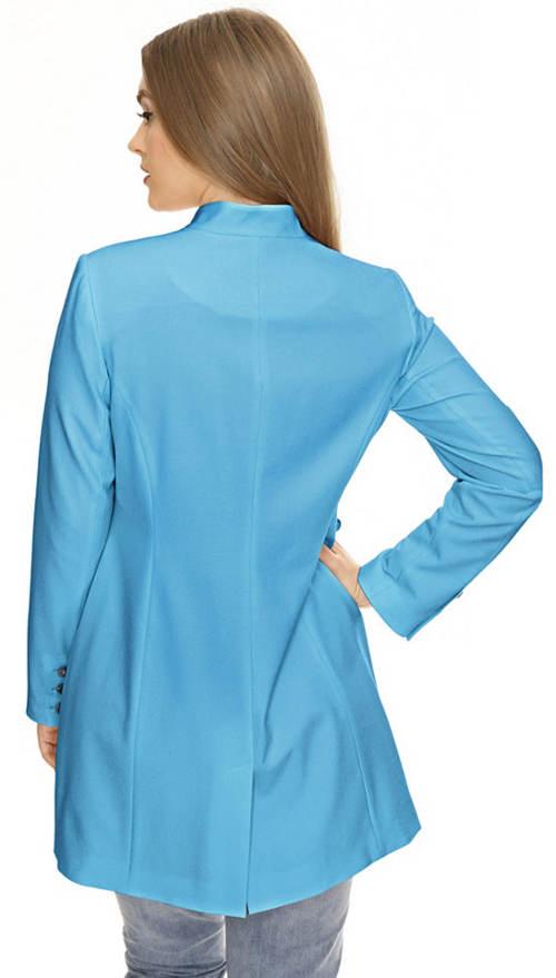 Světle modrý jarní kabátek