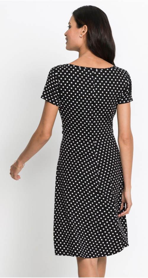 Černobílé šaty s puntíky