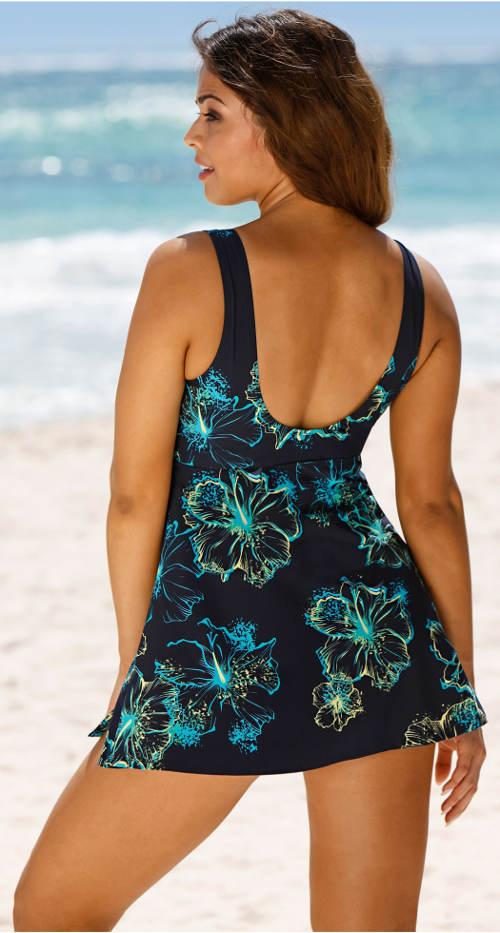 3af3fdddf5d8 Tvarující plavkové šaty pro plnoštíhlé. Dámské plavky se sukní ...