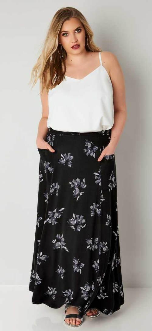 Dlouhá sukně pro plnoštíhlé