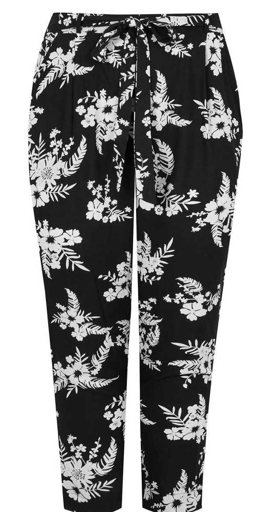 Kalhoty s vázačkou v pase