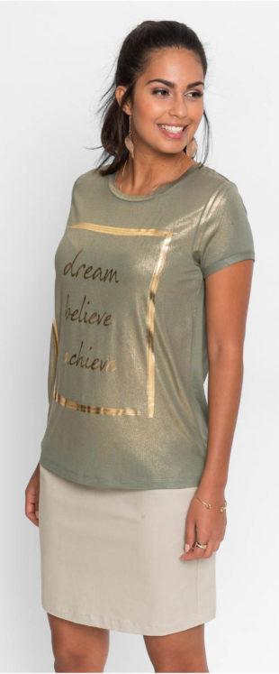 Krásné tričko s úžasným metalízovým potiskem