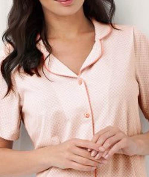 Meruňková noční košile s límečkem