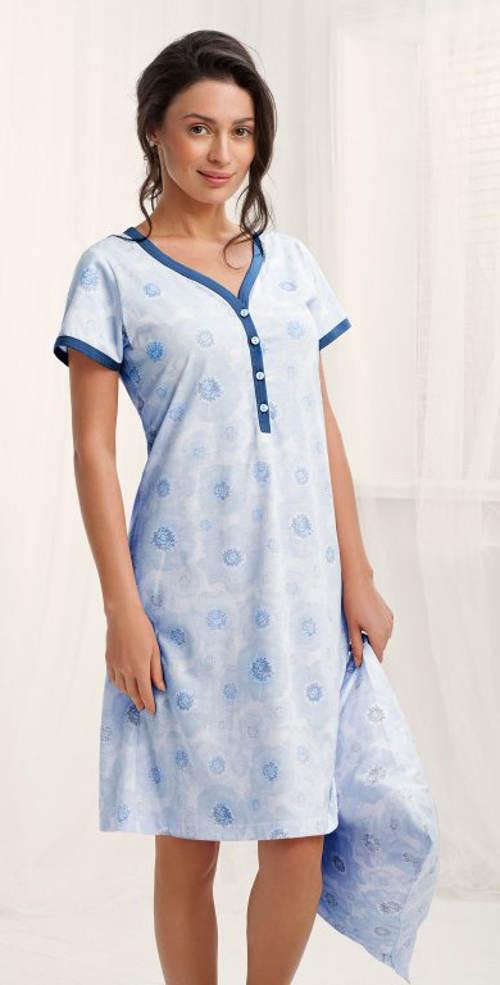 Pohodlná dámská noční košile s krátkými rukávy