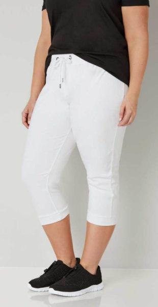 Pohodlné bílé teplákové kalhoty