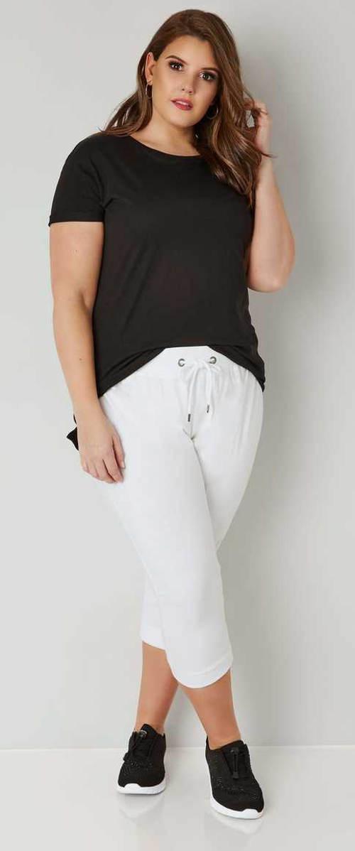 Volnočasové letní kalhoty pro plnoštíhlé