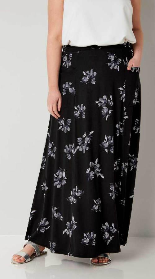 Vzorovaná maxi sukně s kapsami