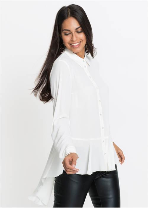 Bílá halenka ke koženým kalhotám