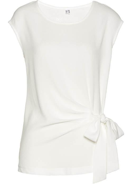 Bílé dámské tričko s mašlí