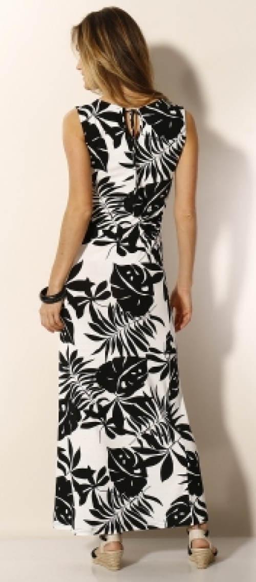 Dlouhé dámské šaty bez rukávů