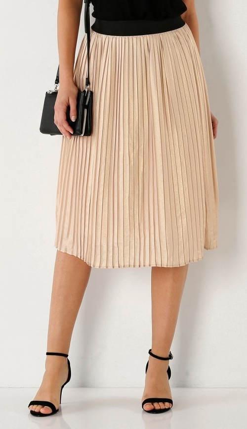 Levná plisovaná sukně pro plnoštíhlé