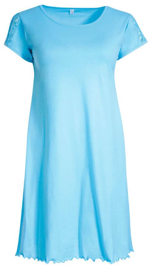 Modrá XXL dámská noční košile