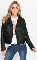 Motorkářská dámská bunda s nýty