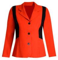 Oranžové nemačkavé dámské sako