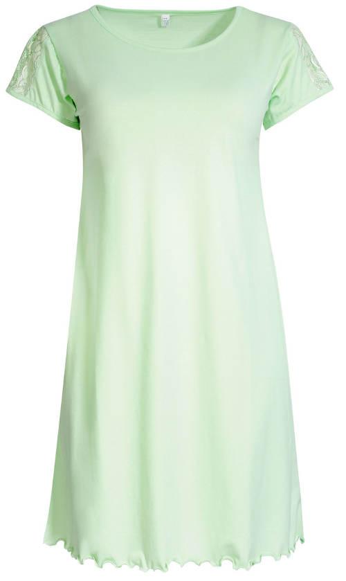Zelená košilka pro plnoštíhlé