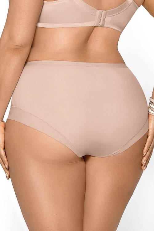 Béžové kalhotky pro větší zadek