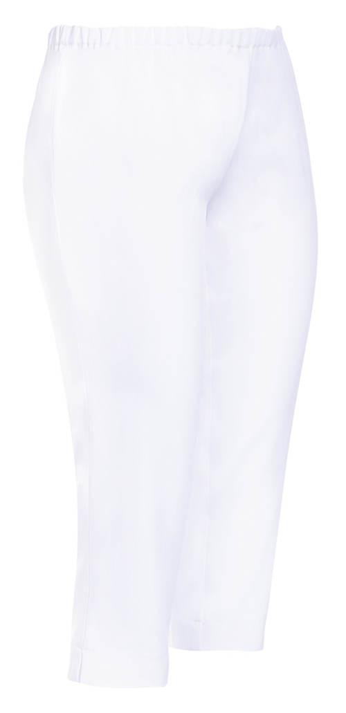 Bílé dámské kalhoty do gumy