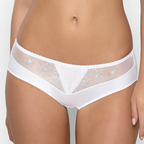 Bílé francouzské kalhotky pro plnoštíhlé