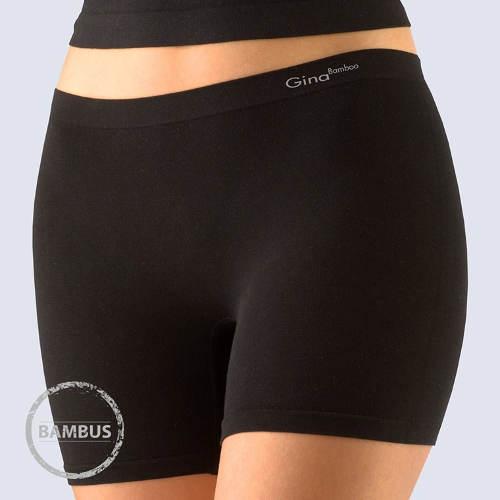 Černé bambusové nohavičkové kalhotky