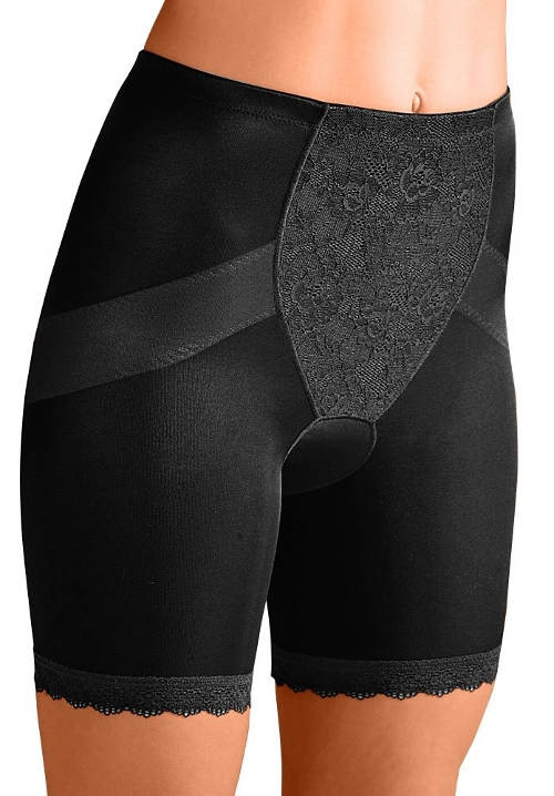 Dlouhé černé stahovací kalhotky