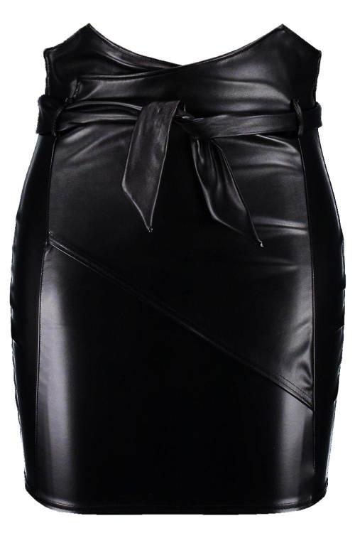 Kožená sukně s opaskem