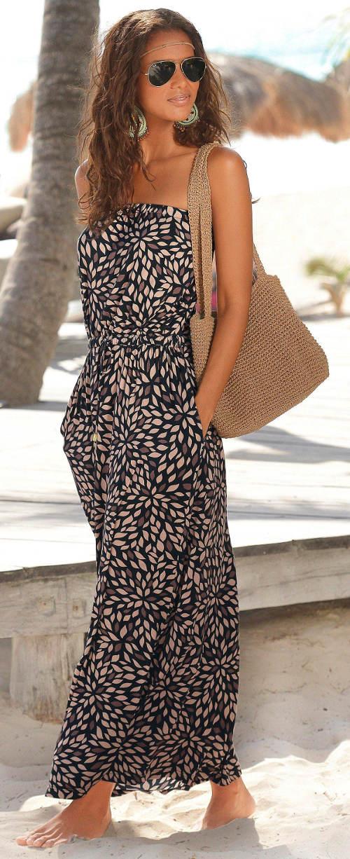 Letní maxi šaty s kapsami