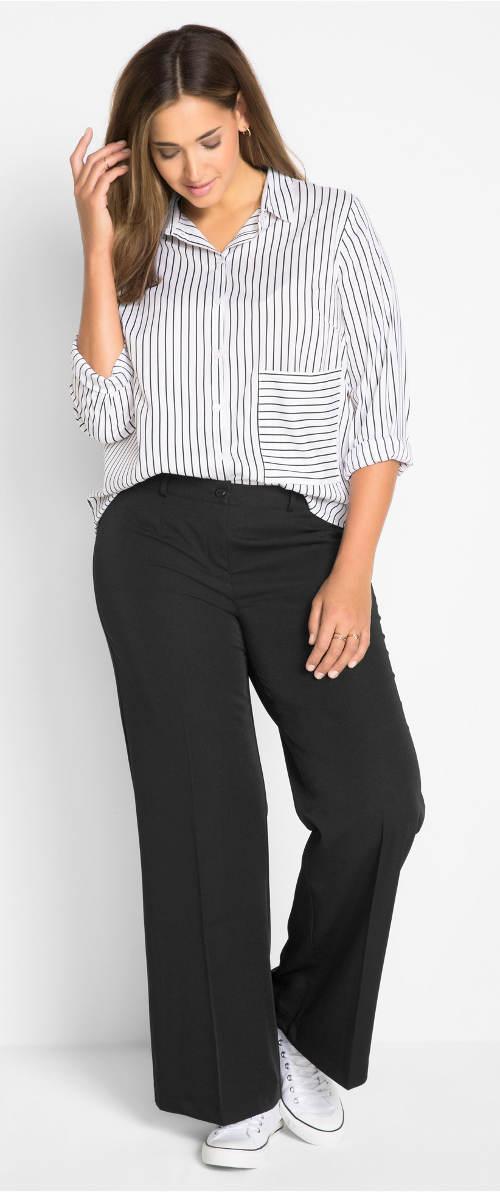 Levné černé společenské kalhoty