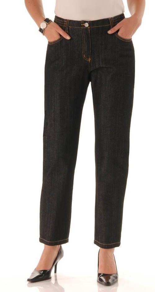 Levné dámské černé džíny