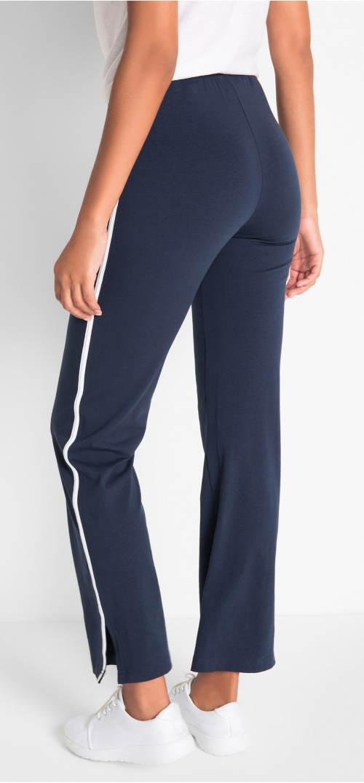 f76db3c8211 Strečové sportovní kalhoty pro plnoštíhlé. Modré dámské XXL tepláky