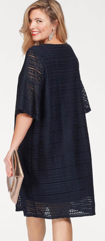 Modré krajkové šaty se spodničkou