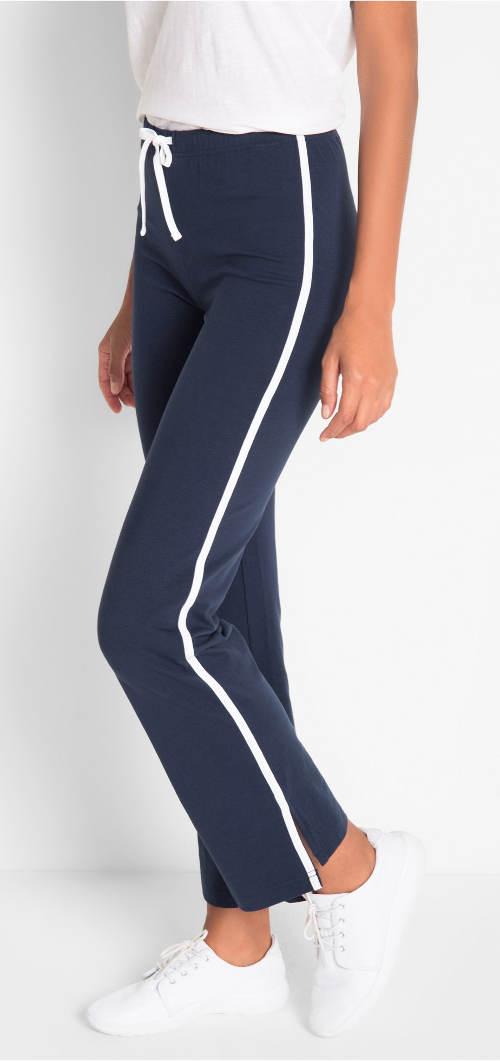Modré teplákové kalhoty