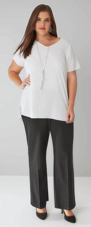 Nadměrné dámské společenské kalhoty