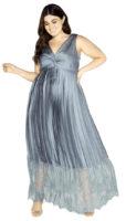 Plesové šaty pro plnoštíhlé s plisováním