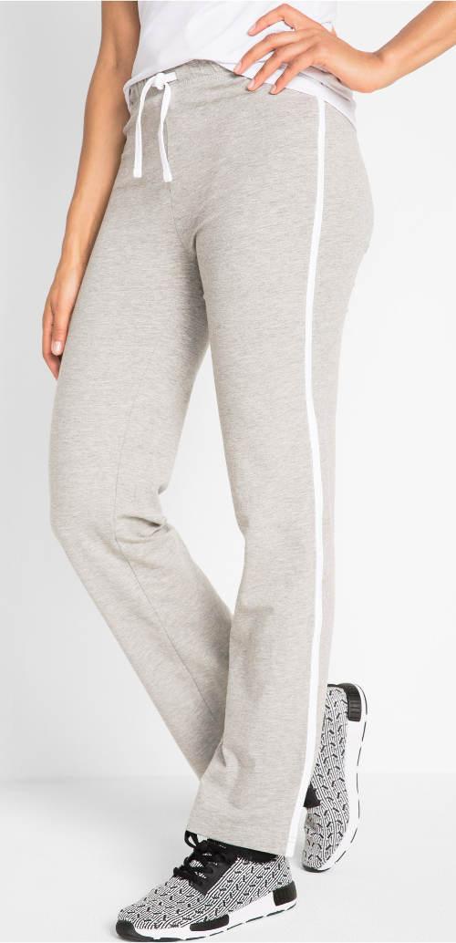 Šedé domácí kalhoty nadměrných velikostí