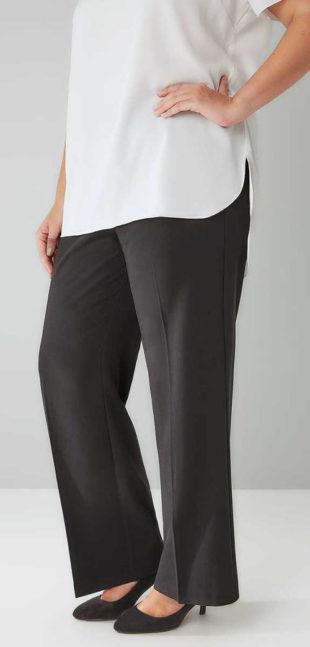 Společenské kalhoty s pukem pro plnoštíhlé