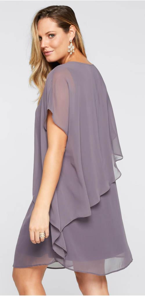 Volné dámské šedé šaty