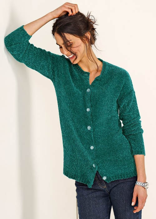 Zelený dámský svetr