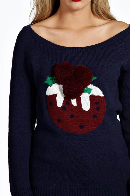 Dámský svetr s vánočním pudingem