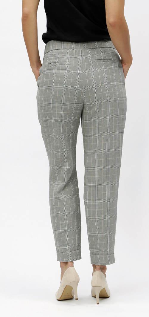 Karované dámské XXL kalhoty